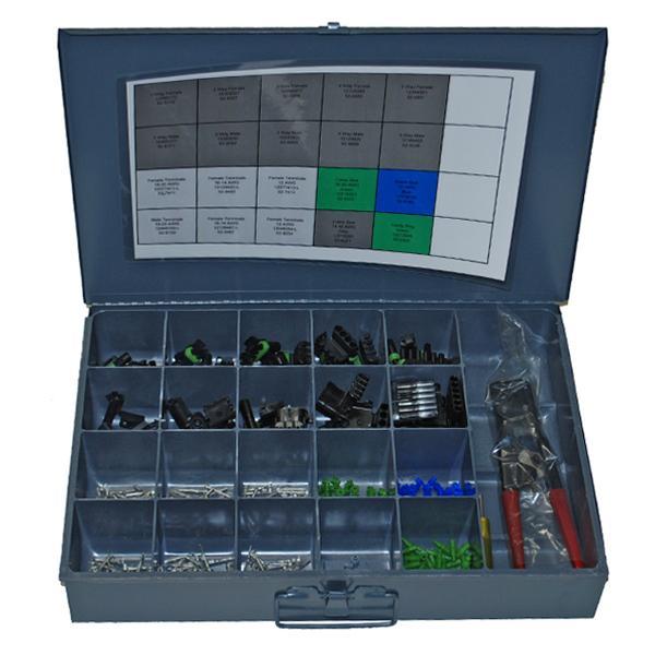 weather pack kit with crimp tools. Black Bedroom Furniture Sets. Home Design Ideas