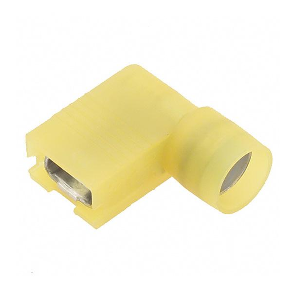 Nylon Insulated 90 Degree Female Disconnects, Yellow, 10-12 AWG, Female,   250 Width