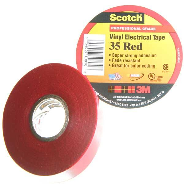 Scotch 174 35 Vinyl Red Electrical Tape
